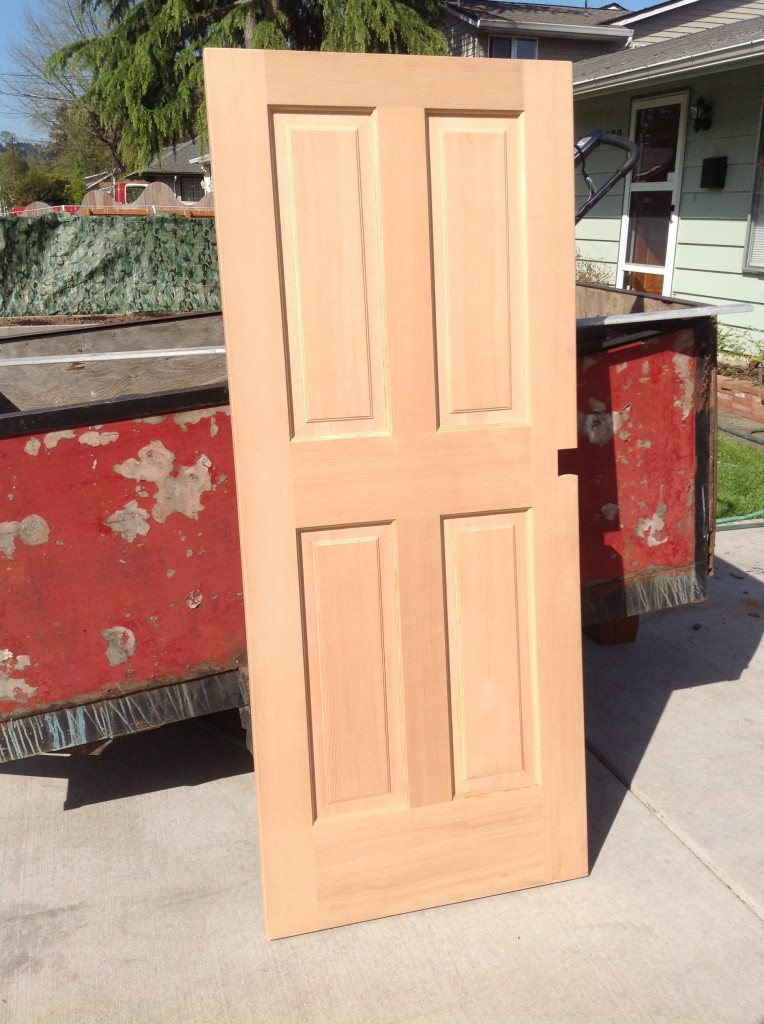 Door to be modified for shed