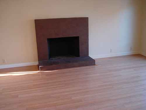 Completed hardwood floor installation by Bragg Construction