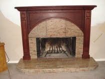 Granite Fireplace with new Mantle