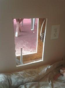 Pet Door Installation Interior Wall by Bragg Construction