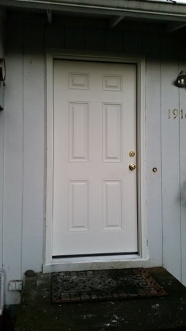 After picture of an exterior door installation in oregon city