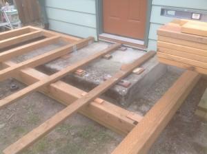 Cedar Deck framed in Gladstone Oregon