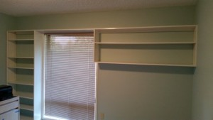Paint ceiling, walls and trim home office