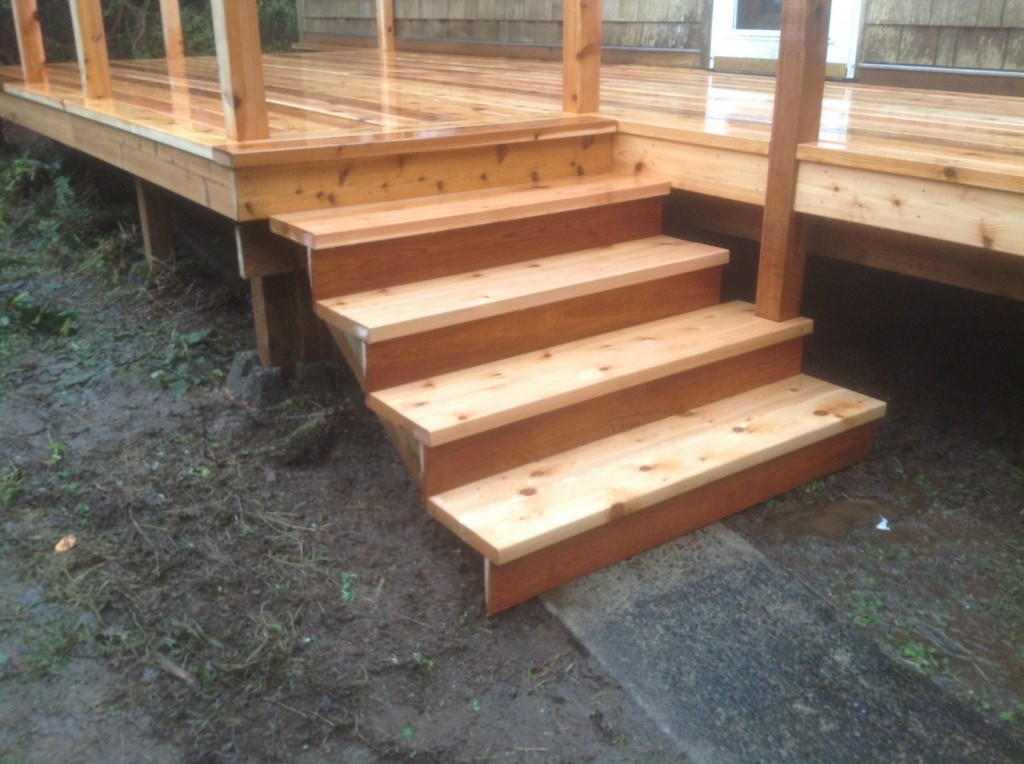 Brand New Cedar Deck Built By Bragg Construction