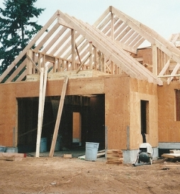 Brand new home construction by Bragg Construction in Gladstone