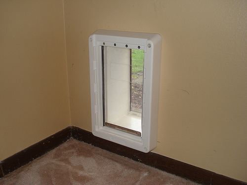 Bragg Construction Custom Pet Door (Interior View)