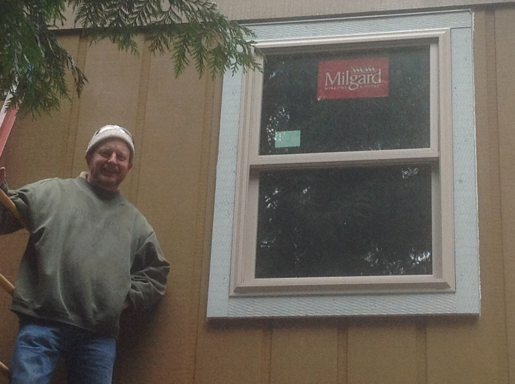 Completed Milgard window by Bragg Construction