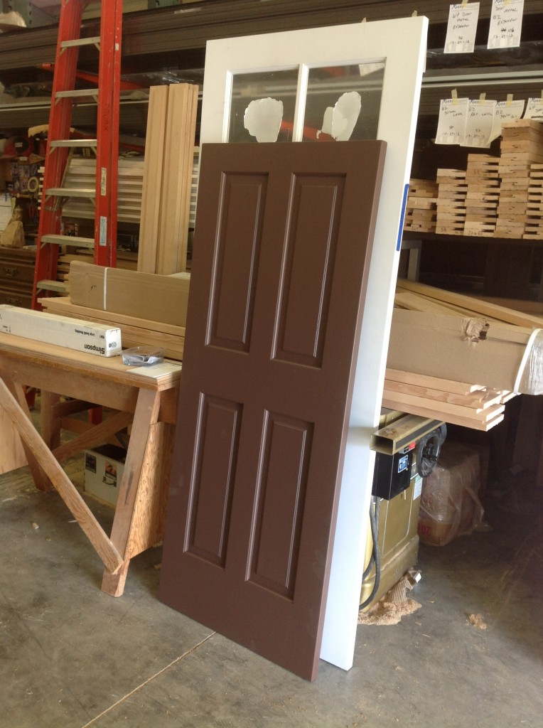 Completed modified door to complete shed by Bragg Construction