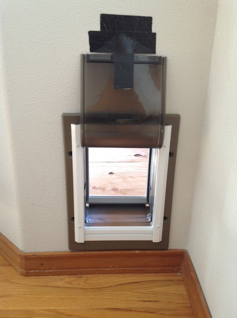 Completed pet door by Bragg Construction in Portland, Oregon