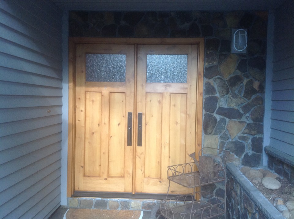 Front door install by Bragg Construction
