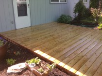 Kiln Dried Cedar Deck