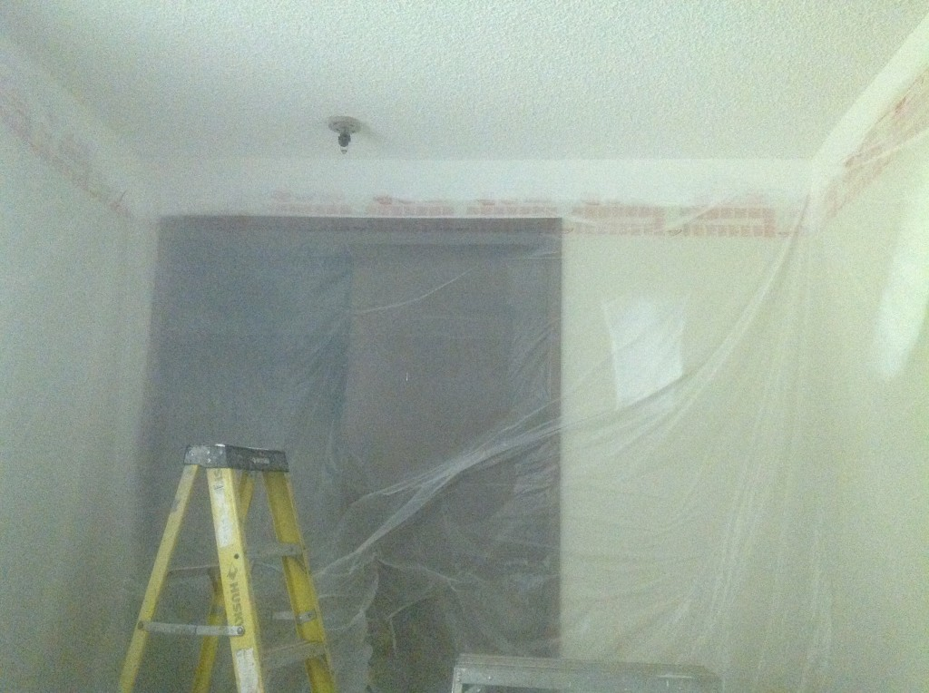 Popcorn Ceiling Spray Painted By Bragg Construction