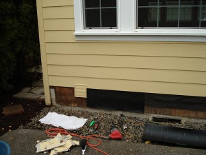 Exterior siding being replaced and repair by Bragg Construction