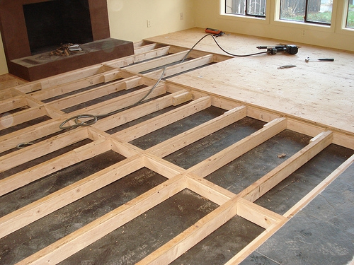 Subflooring for bamboo floor installation Portland, Oregon