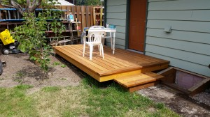 Custom Cedar Deck in Gladstone, Oregon