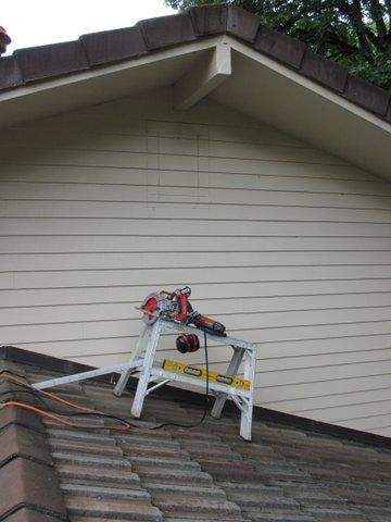 Attic Vent Cut Line Layout Bragg Construction