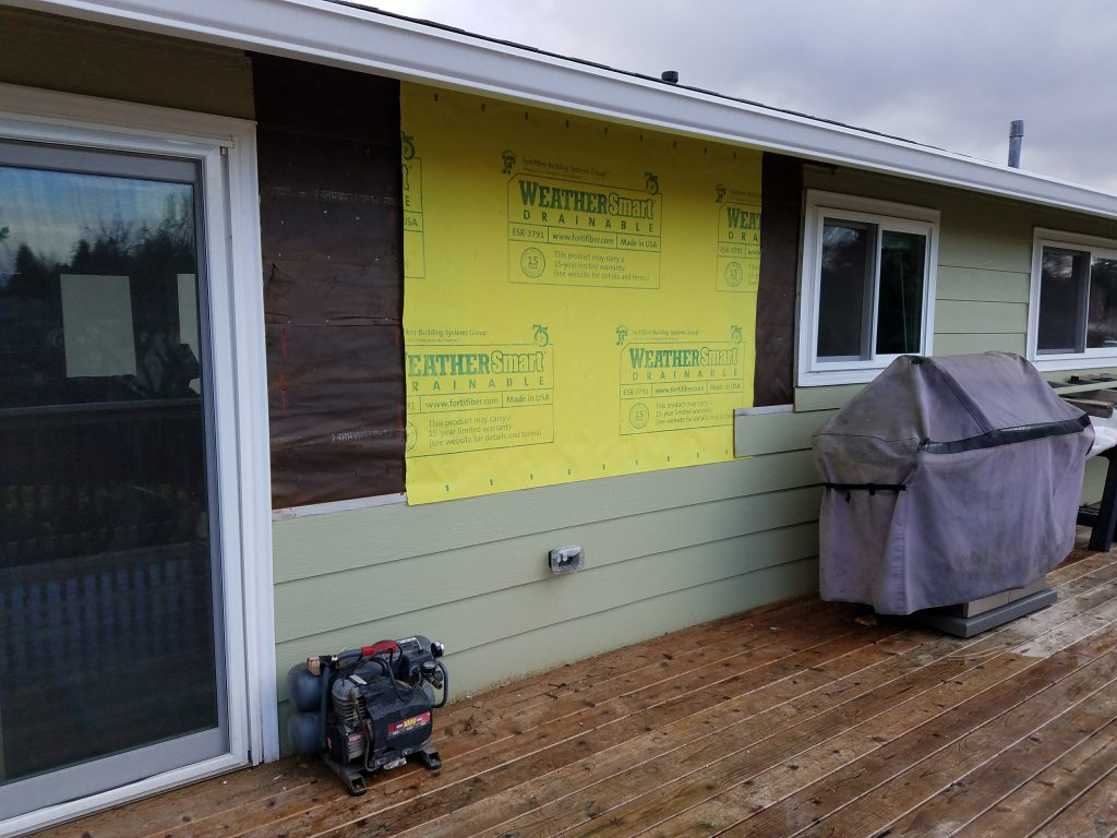 Exterior vapor barrier to protect against water intrusion